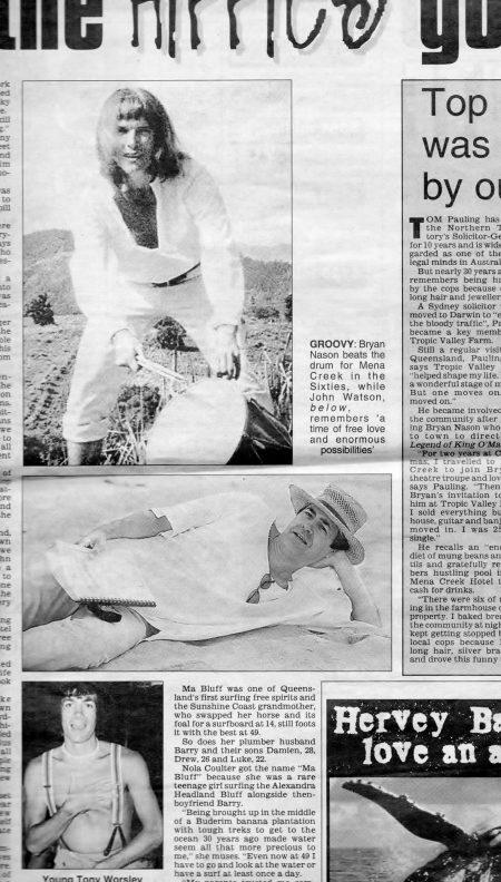 'Hippies' Bryan Nason and John Watson. Tales from the Magic Era.