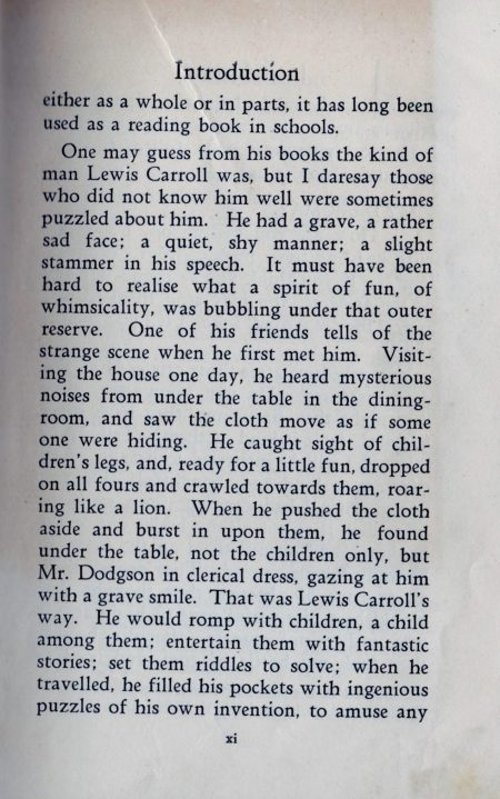 Lewis Carroll, intro extract.