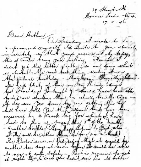 1946 Letter. P1