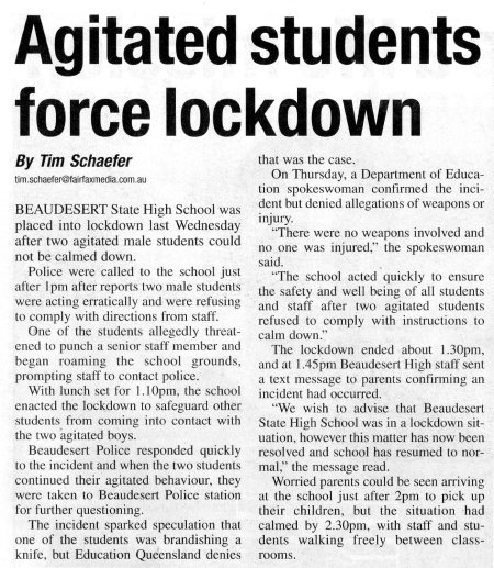 Agitated Students 18/03/2015