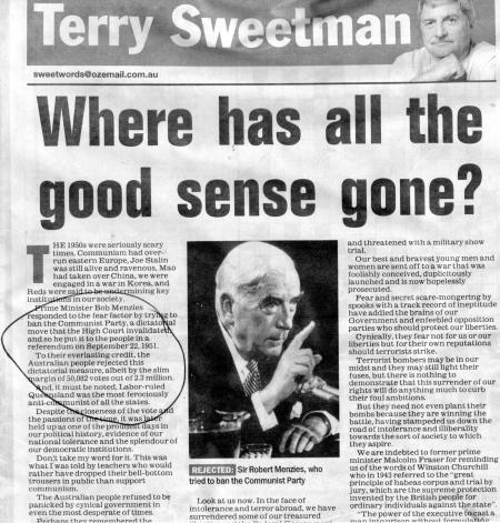 CM Sweetman. 23/10/2005.