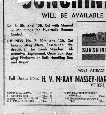 No column jottings, seems post-war frugal 1940-50's