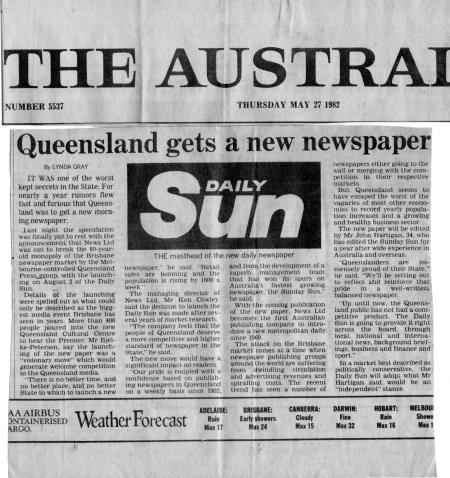 Daily Sun. May 27, 1982.