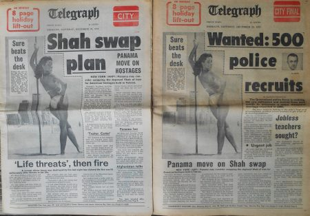 Last Saturday editions, Brisbane Telegraph. December 29, 1979.