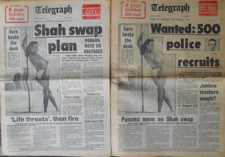 Last Saturday editions, Brisbane Telegraph. December 29, 1979.