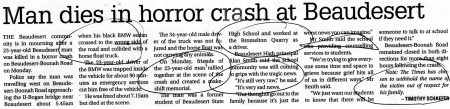 """Horror Crash"" 3/08/2016 Points Stressed."
